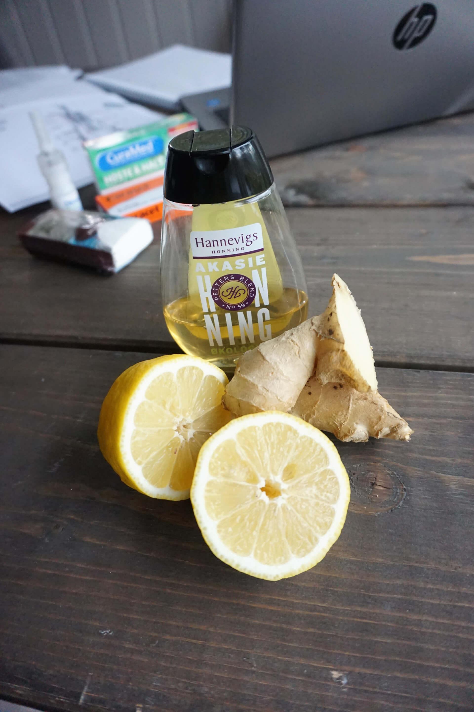 te med honning