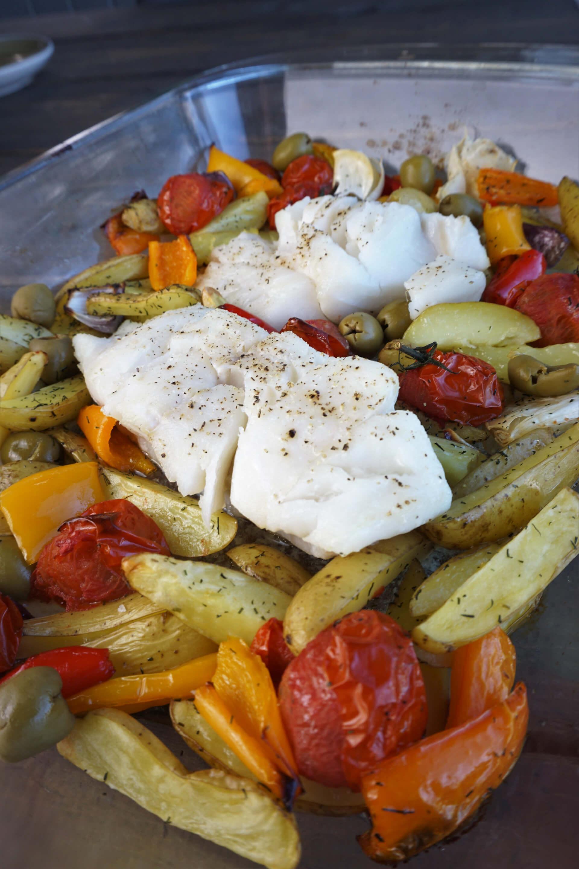 Fiskeform Torsk Med Tomat Paprika Og Potet Sætnans Kjøkken